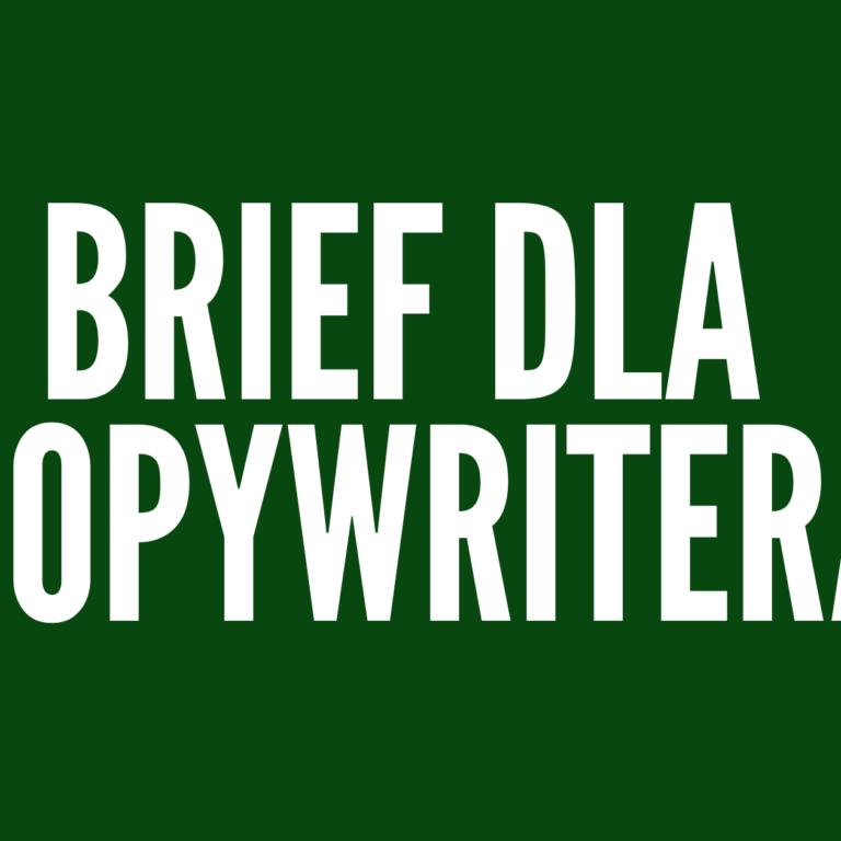 Brief dla copywritera: jak go napisać? [PDF DO POBRANIA]