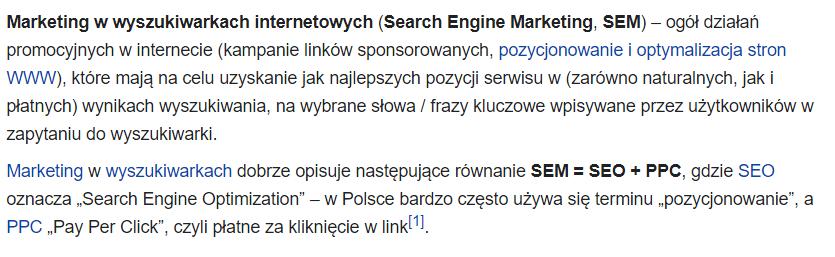 SEM definicja z Wikipedii